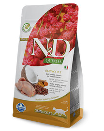 FARMINA N&D Cat Quinoa Adult SKIN & COAT quail, coconut 1,5 kg